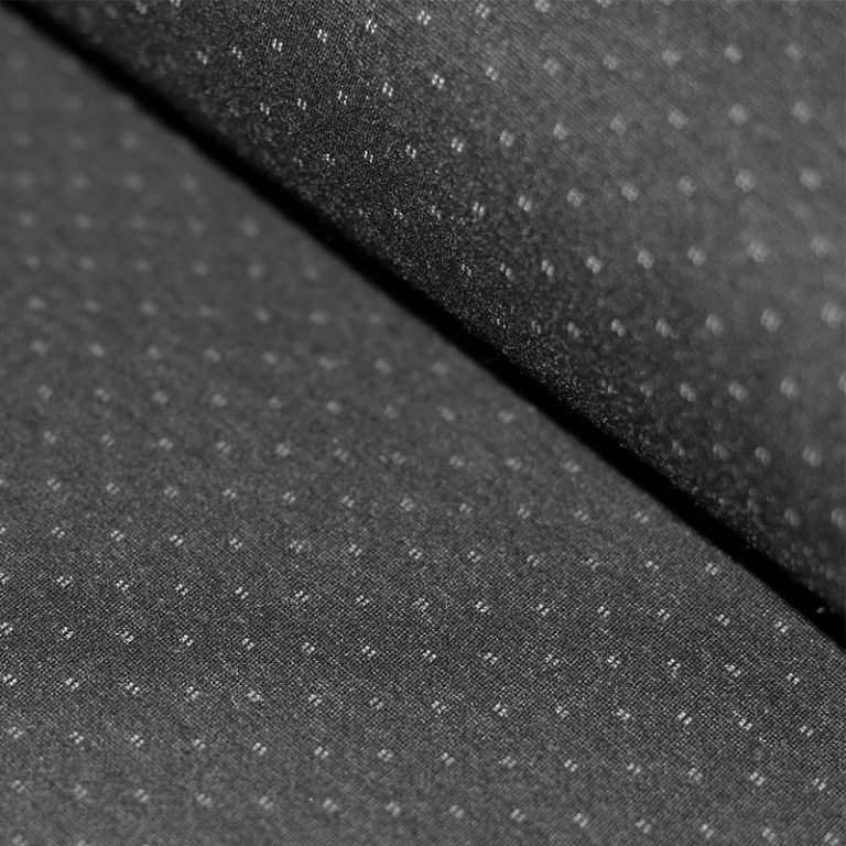 Punto Di Milano Jersey Dress Fabric - Diamond Dots Grey