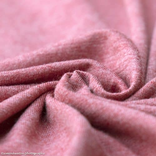 Deep Coral Bamboo Jersey Dress Fabric