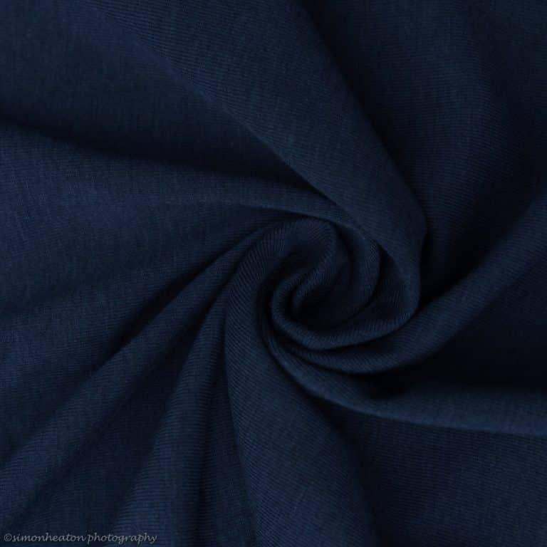 deep blue bamboo jersey