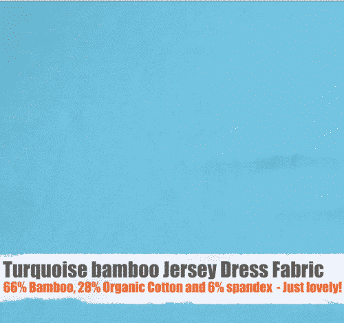 Turquoise Bamboo Jersey Dress Fabric