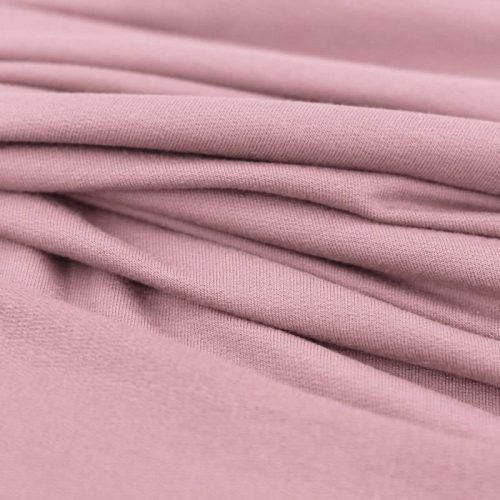 modal french terry jersey fabric dusky pink