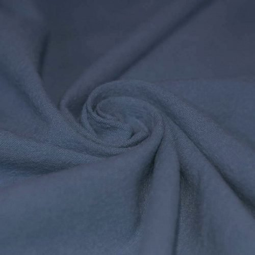 dusky blue washed cotton fabric