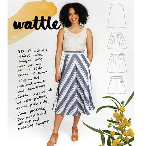 wattle skirt megan nielsen