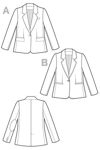 Closet Case Files Sewing Pattern - Jasika Blazer