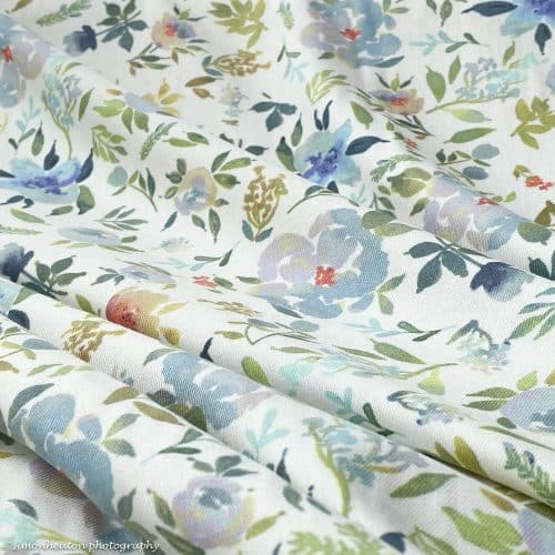 Floral Viscose Twill Dress Fabric - Mugi