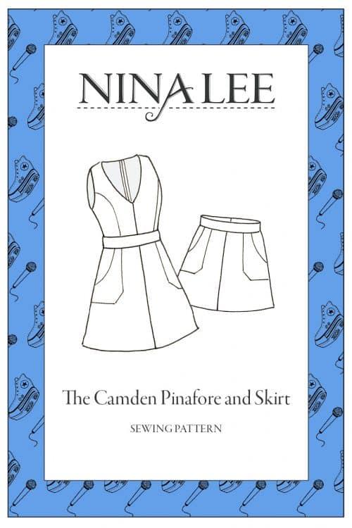 Nina Lee  Sewing Pattern- The Camden Pinafore and Skirt