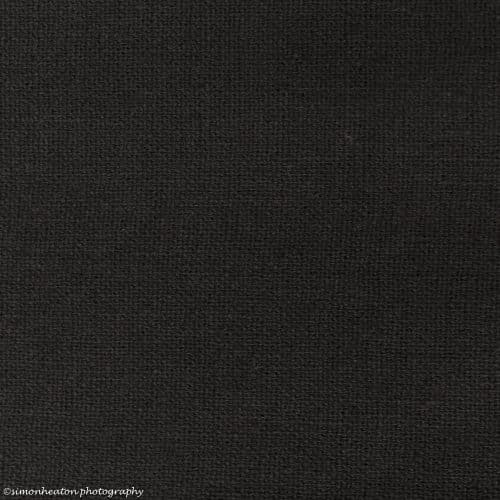 linen cotton blend dress fabric in black