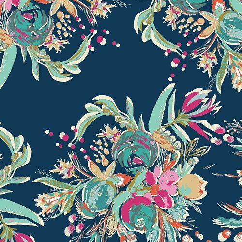 Art Gallery Rayon - Splendid Coquet Bouquet Dress Fabric