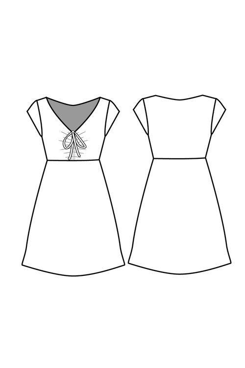 Lucida Dress - Friday Pattern Company