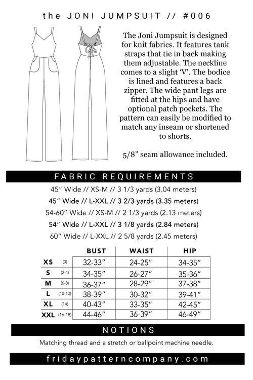 Joni Jumpsuit- Friday Pattern Company