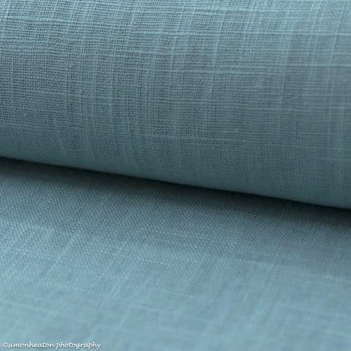 Bio Linen Dress Fabric - Teal