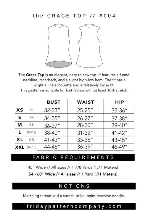 Grace Top Sewing Pattern - Friday Pattern Company