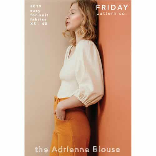 Adrienne Blouse- Friday Pattern Company