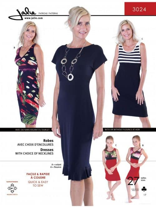 Knit Dresses Sewing Pattern - Jalie