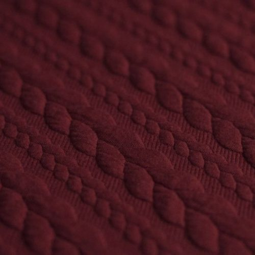bordeaux cable knit fabric uk