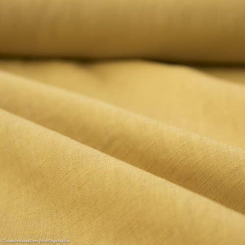 Bio Linen Dress Fabric -Ochre