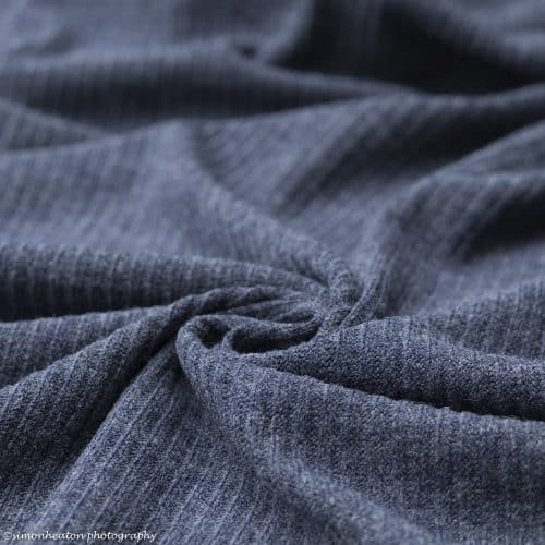 Soft Knit Dress Fabric - Blue Melange