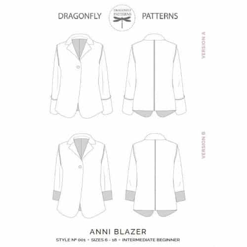 The Anni Blazer Sewing Pattern- Dragonfly Patterns- PAPER VERSION