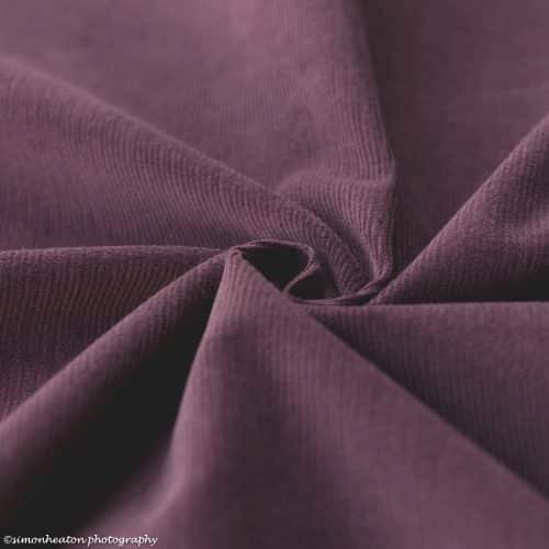 Stretch Needlecord Dress Fabric - Grape
