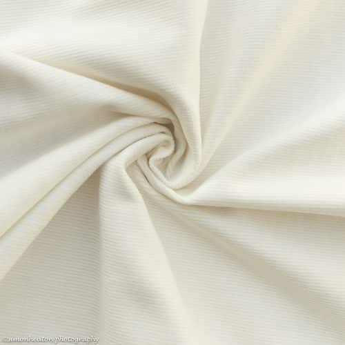 Stretch Needlecord Dress Fabric - Cream