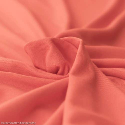 Eco Viscose Jersey Dress Fabric- Mandarine