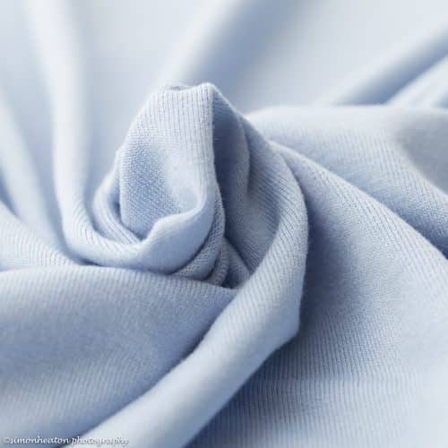 eco viscose jersey dress fabric sky blue
