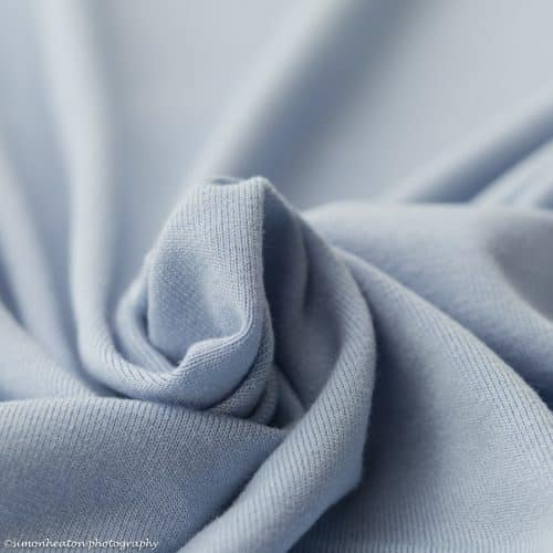 Eco Viscose Jersey Dress Fabric- Sky