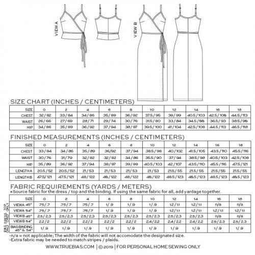 Calvin Wrap Dress/ Top Sewing Pattern - True Bias