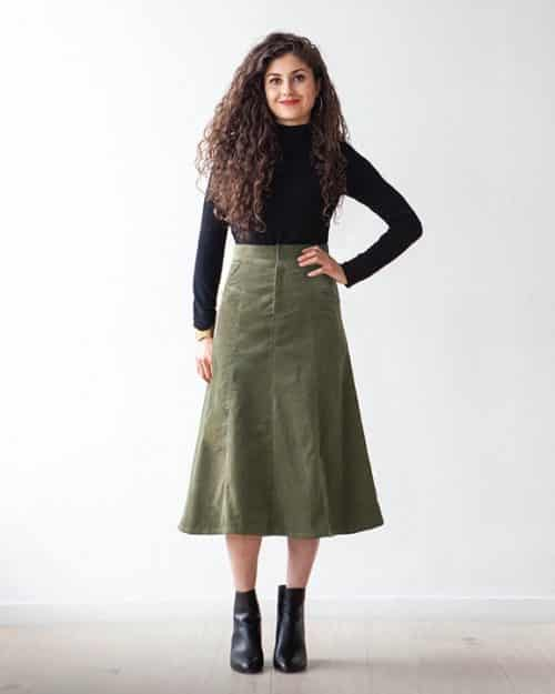 salida skirt sewing pattern
