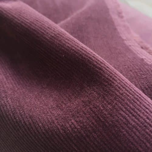 cotton needlecord grape
