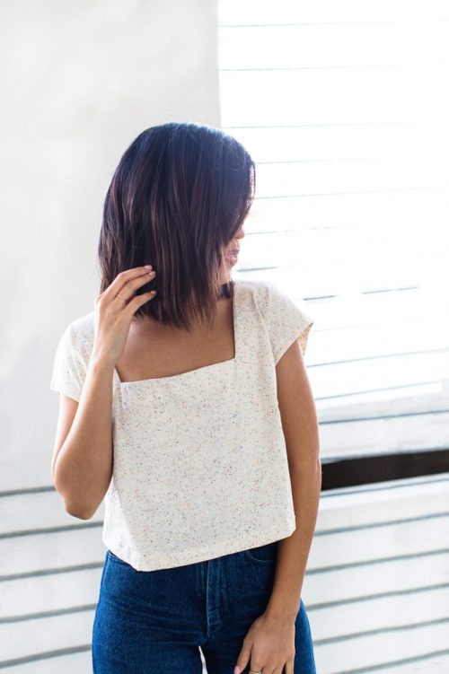 The Square Neck Top Sewing Pattern - Friday Pattern Company