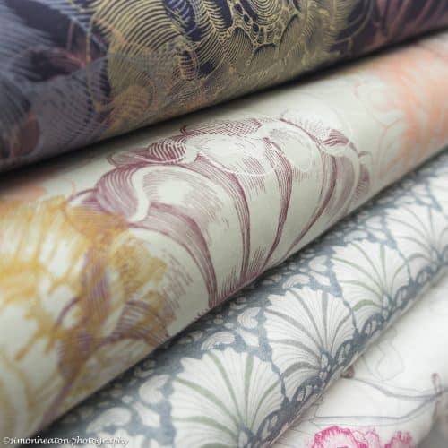 Organic Cotton Poplin Dress Fabric - Vintage Flowers