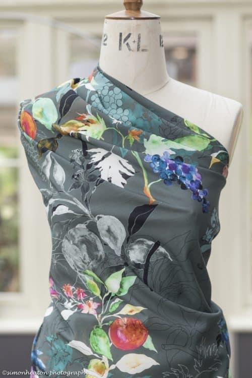 Organic Cotton Lawn Dress Fabric - Fruit Garden