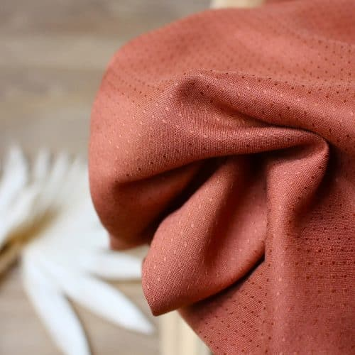 Dobby Chestnut Viscose Dress Fabric