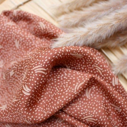 Dune Chestnut Viscose Dress Fabric by Atelier Brunette