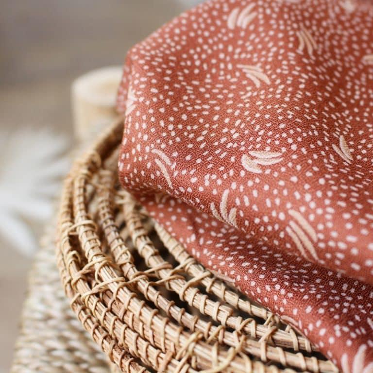 Dune Chestnut Crepe Fabric