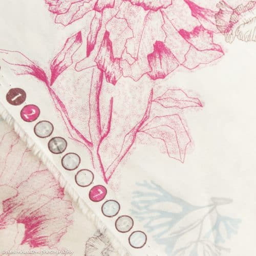 Organic Cotton Lawn Dress Fabric - Emi Floral