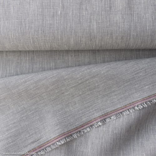 NEW Linen Cotton Dress Fabric - Grey Chambray
