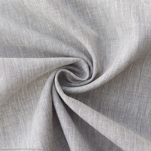 Linen Cotton Dress Fabric - Grey Chambray