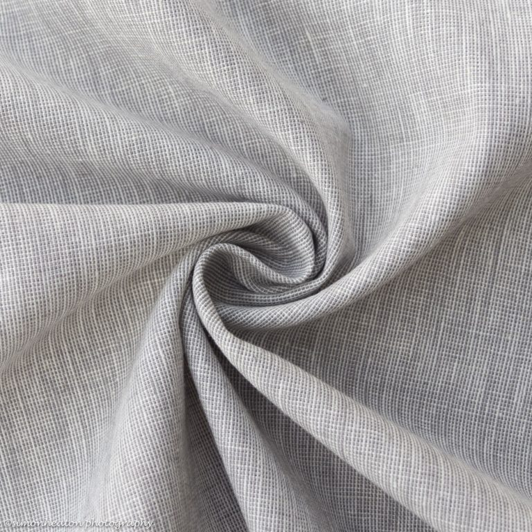 Linen Cotton Dress Fabric - Grey Chambray