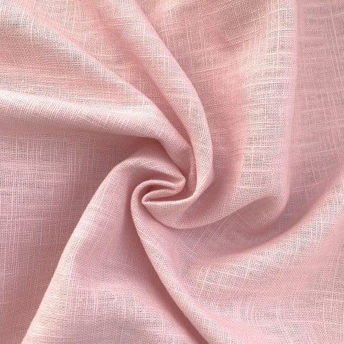 Bio Linen Dress Fabric - Light Pink