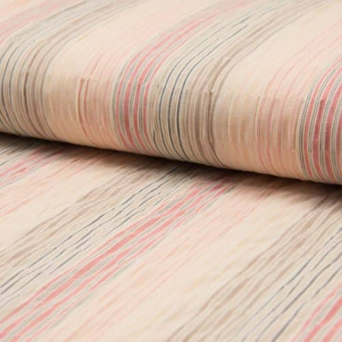 Djakarta Cotton Stripe Dress Fabric - Blush Pink