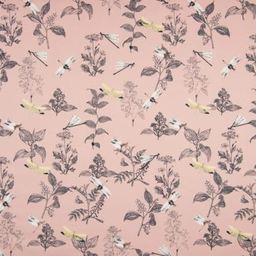 Dragonflies Dusty Pink