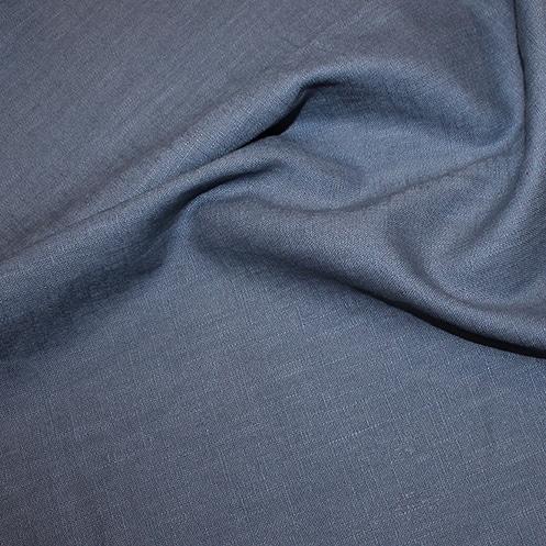Bio Linen Dress Fabric - Dusky blue