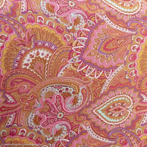 Viscose Print Dress Fabric Cerise