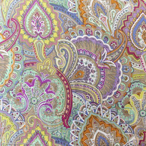 Viscose Print Dress Fabric Lime