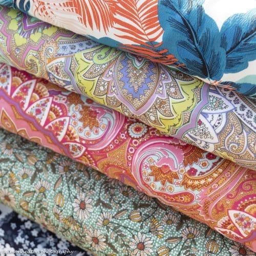 Viscose Print Dress Fabric Cerise