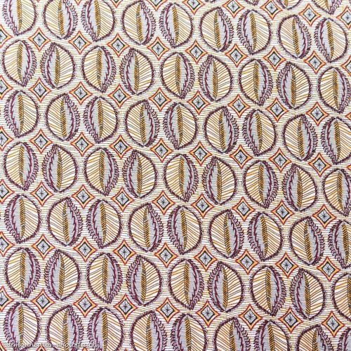 Viscose Print Dress Fabric in Leaves Ochre