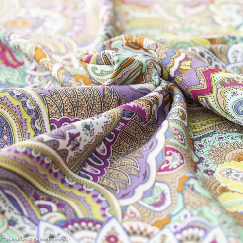 Viscose Print Dress Fabric in Lime, Mint & Lilac