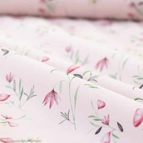 Cotton Poplin Dress Fabric - Floral Pink